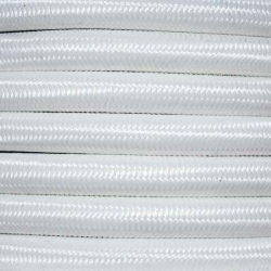 Bright White Fabric Cable | 2 & 3 Core Fabric Flex