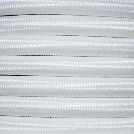 Bright White Fabric Cable   2 & 3 Core Fabric Flex