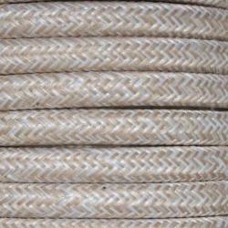 Linen Fabric Cable   2 & 3 Core Fabric Flex