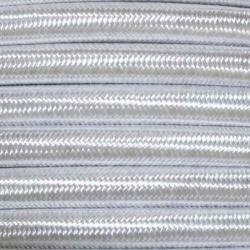 Pearl Silver Fabric Cable   2 & 3 Core Fabric Flex