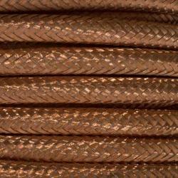 Plain Copper Fabric Cable   2 & 3 Core Fabric Flex