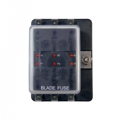 ATC Blade Fuse Box With Ground - Marine, Boat or Automotive - 6 Way