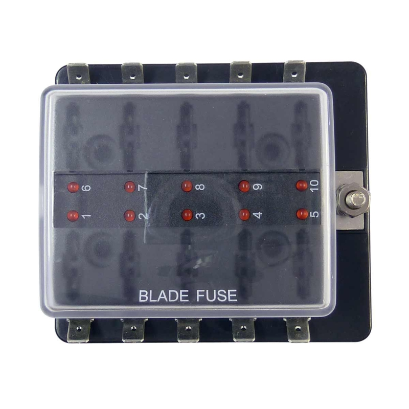 fuse box in boat atc blade fuse box with ground marine  boat or automotive 10  atc blade fuse box with ground marine
