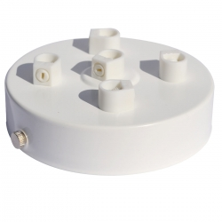 5 Hole White Ceiling Rose - Matt