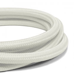Satin White Fabric Cable | 2 Core Fabric Flex