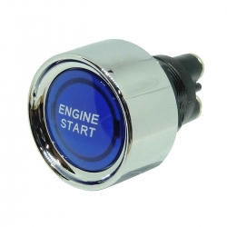 Illuminated Blue Motorsport Engine Start Push Button Switch