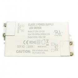 12V 1.25A 15W LED Driver for LED Strip & MR16 Bulbs