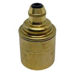 Brass E27 Lamp Holder (Plain Body)