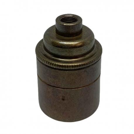 Old English Brass E27 Lamp Holder 10mm Entrance