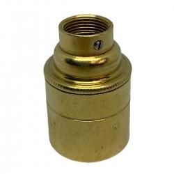 Brass E27 Lamp Holder (Plain Body) 20mm Entrance