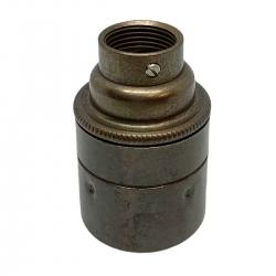 Old English Brass E27 Lamp Holder (Plain Body) 20mm Entrance