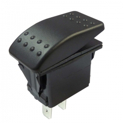 Single Pole Marine Rocker Switch 12-24V, IP67