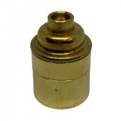 """Brass E27 Lamp Holder (Plain Body) 1/2"""" Entrance"""