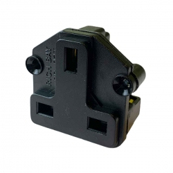 UK BS1363 Screw Mount Socket Black