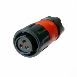 IP67 Waterproof 3 Pole Female Plug Panel Mount Connector