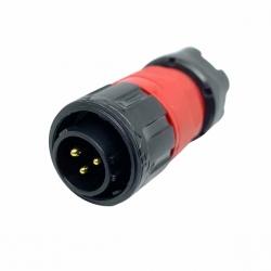 IP67 Waterproof 3 Pole Plug Panel Mount Connector