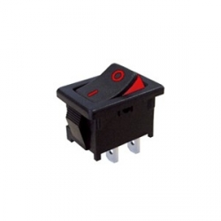 Two Colour Visible On Rocker Switch - Red