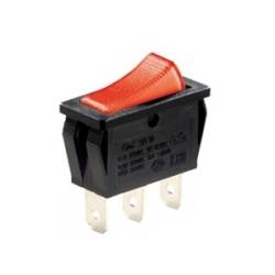 Red Illuminated Single Pole Rocker Switch 240V