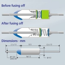 Microtemp Axial thermal fuse 240 º c