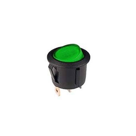 Green 12V Round Rocker Switch
