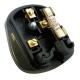 Tough Black Mains Plug, 13A, Resilent