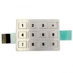 Keypad, 3x4, Stainless Steel