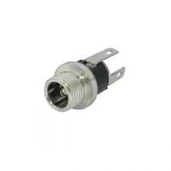 Chassis Mount DC Jack Socket (Solder) 2.1mm Pin