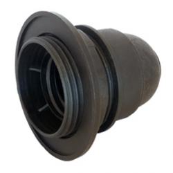 Black E27 Lamp Holder (Half Threaded)