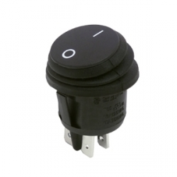 Waterproof Round Rocker Switch, On Off Double Pole