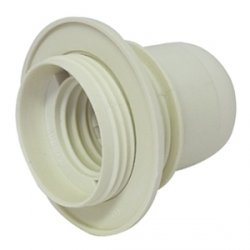Portalámpara Plástico E27 (Roscado con Tope)