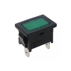 Green Rectangular Indicator Light 240V