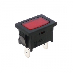 Red Rectangular Indicator Light 240V