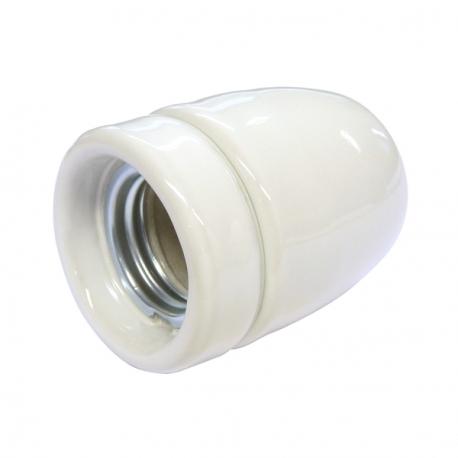 White High Gloss Ceramic E27 Lamp Holder