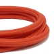 Red Braided Round Fabric Cable - 3 Core Fabric Flex