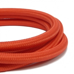 Bright Red Fabric Cable | 3 Core Fabric Flex