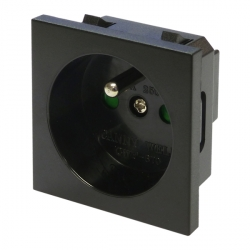 French Power Socket Black