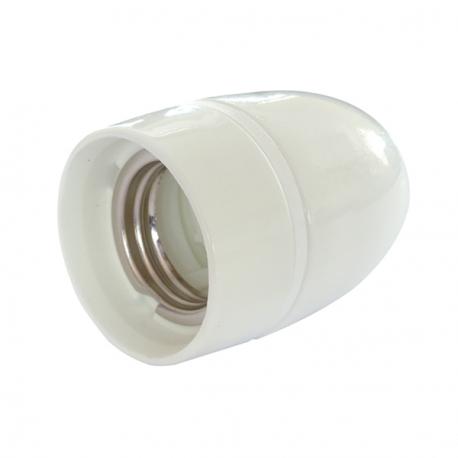 White High Gloss Ceramic (Porcelain) E27 Lamp Holder