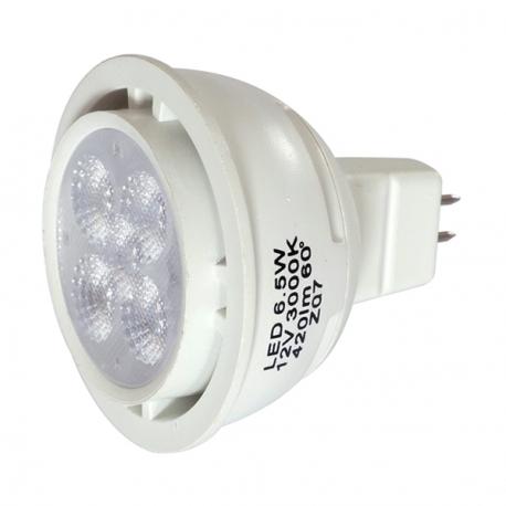 6 Mr16 Ampoule 5 Watt Chaud Led Couleur Blanc 4R5AjL
