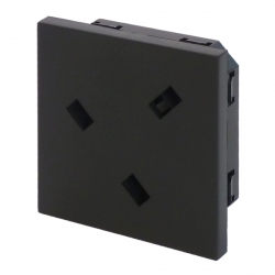 UK BS1363 Panel Mount Socket Black